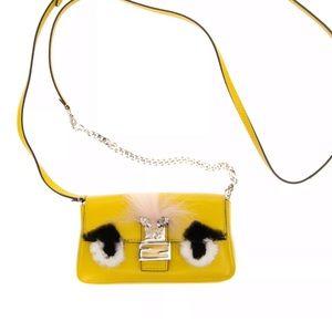 Fendi Crossbody Baguette Micro Fluo shoulder bag